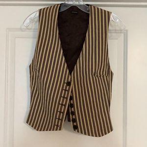 Joseph Striped Lined Vest